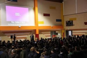 Luca Ronka parla agli allievi
